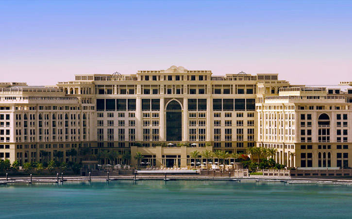 Front view of hotel Palazzo Versace Dubai